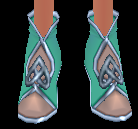 Equipped   Elegant Celtic Shoes (F)  viewed from the front