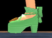 Equipped Waffle Witch Shoes viewed from the side
