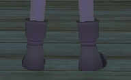 Equipped  Haku's Shoes viewed from the back