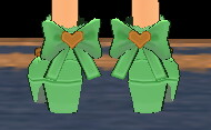 Equipped Waffle Witch Shoes viewed from the back