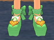 Equipped Waffle Witch Shoes viewed from the front