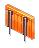 Inventory icon of Cooking Table (Orange Body, Gray Legs)