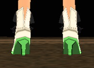Equipped  Coco's Heels viewed from the back