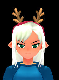 File:Long Reindeer Antler Headband (Repairable) Equipped Front.png