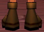 Equipped Cores' Boots (M) viewed from the back
