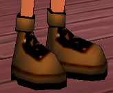 Equipped Cores' Boots (M) viewed from an angle