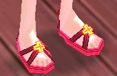 Equipped Bright Elven Summer Sandals (M) viewed from an angle